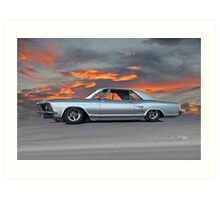 1963 Buick Riviera 'Sunset Strip' Art Print