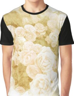 Muted Gold Watercolor Floral Graphic T-Shirt