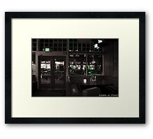 Booth Service Framed Print