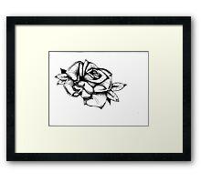 rose. Framed Print