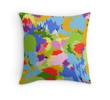 colorful chaotic Throw Pillow