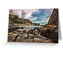 Man 'O' War Bay, Dorset, England Greeting Card