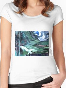 Ice, clouds, mountains and me Women's Fitted Scoop T-Shirt