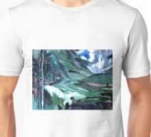 Ice, clouds, mountains and me Unisex T-Shirt