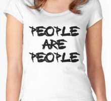People Are People Women's Fitted Scoop T-Shirt
