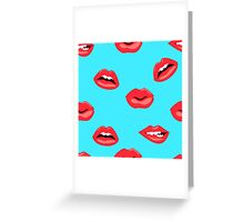 red woman lips Greeting Card