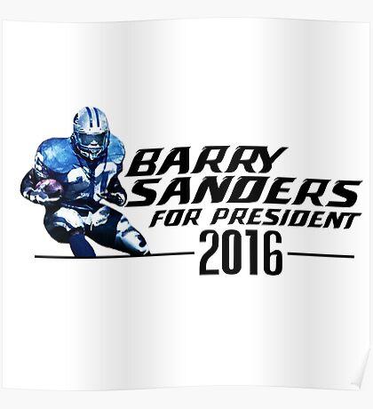 Barry Sanders for President 2016 (Alternate) Poster