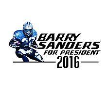 Barry Sanders for President 2016 (Alternate) Photographic Print
