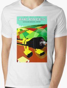 """AIR RACES"" Cleveland 1932 International Advertisement Mens V-Neck T-Shirt"