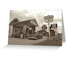 Old Gas Station Greeting Card