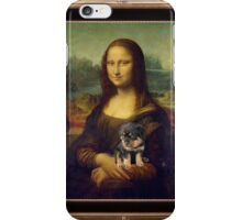 Mona Lisa Nursing Her Puppies iPhone Case/Skin