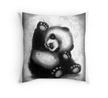 Baby Panda Bear Throw Pillow