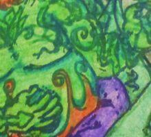 Ganja Guardians #1:Bubba {Final}  Sticker