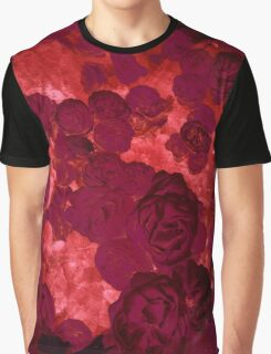Red Abstract Floral Graphic T-Shirt