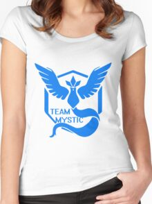 Team Mystic Symbol (Large) Women's Fitted Scoop T-Shirt