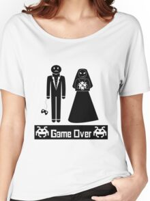 GAME OVER AFTER WEDDING MARRIAGE Women's Relaxed Fit T-Shirt