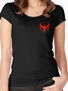 Team Valor Symbol (Small + No Words) Women's Fitted Scoop T-Shirt