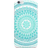 Green mandala iPhone Case/Skin