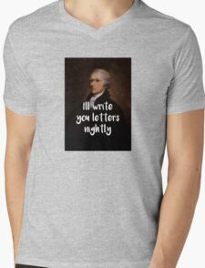 I'll write you letters nightly - Hamilton inspired Mens V-Neck T-Shirt