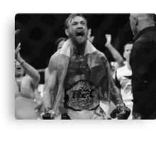 Conor Mcgregor - takes the belt Canvas Print