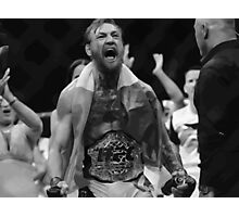 Conor Mcgregor - takes the belt Photographic Print