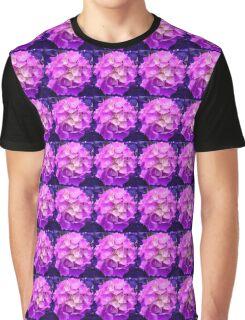 Hydrangea Flower in pink & purple Graphic T-Shirt