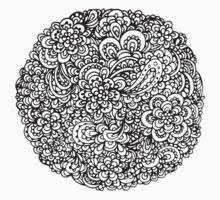 Floral Doodles One Piece - Short Sleeve