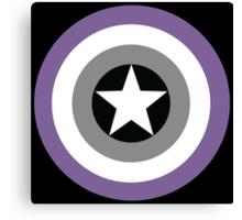 Asexual Flag Cap Shield Canvas Print