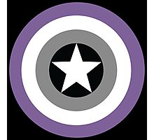 Asexual Flag Cap Shield Photographic Print