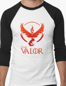 Pokemon Go: Team Valor Men's Baseball ¾ T-Shirt