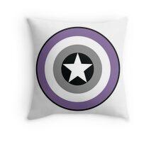Asexual Flag Cap Shield Throw Pillow
