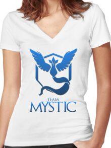 Pokemon Go: Team Mystic Women's Fitted V-Neck T-Shirt