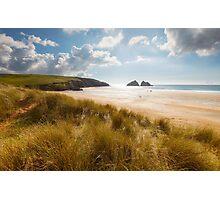 Cornwall - Holywell Sunshine Photographic Print