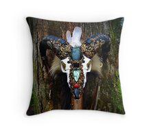 Sacred Ram  Throw Pillow