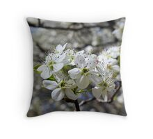 Spring Blossom - white flower Throw Pillow