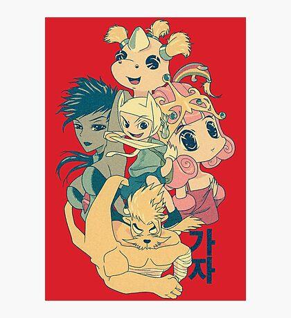 Manga Adventure Time Photographic Print