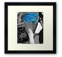 Bikers Blue  Framed Print