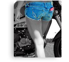 Bikers Blue  Canvas Print