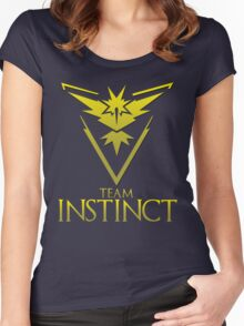 Pokemon Go: Team Instinct  Women's Fitted Scoop T-Shirt