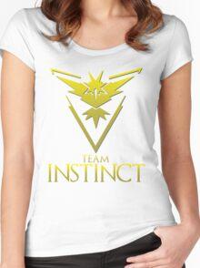 Pokemon Go: Team Instinct  Women's Fitted Scoop T-Shirt