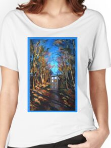 tardis starry night Women's Relaxed Fit T-Shirt