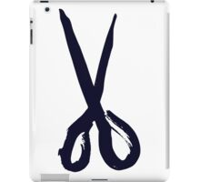 Bold black scissors design iPad Case/Skin