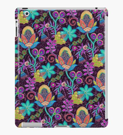 Colorful Abstract Retro Flowers Beads Look Design iPad Case/Skin
