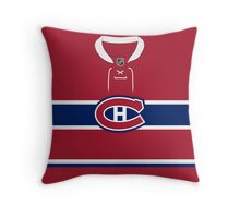 Montreal Canadiens Home Jersey Throw Pillow