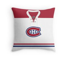 Montreal Canadiens Away Jersey Throw Pillow
