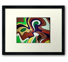 River / valley of colours  Framed Print