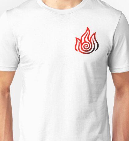 Fire Bending Symbol (Red Black) Unisex T-Shirt