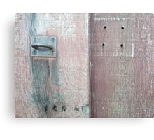old lock and wood Canvas Print