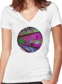 Lavender Moon Women's Fitted V-Neck T-Shirt