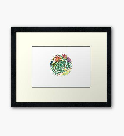 Tropical watercolor Framed Print